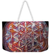 Flower Of Life Copper Lightmandala Weekender Tote Bag
