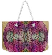Flower Of Life Weekender Tote Bag by Filippo B