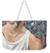 Flower Of Louis, 11x14 Inches Ol On Panel By Kenney Mencher  Weekender Tote Bag