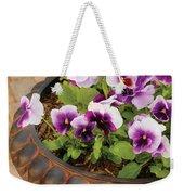 Flower - Pansy - Purple Pansies Weekender Tote Bag