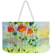 Flower Patch With Butterfly Weekender Tote Bag