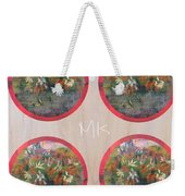 Flower Photo Globes Weekender Tote Bag