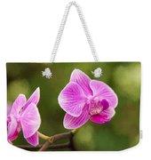 Flower - Pink Orchids Weekender Tote Bag