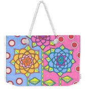Flower Power 2 Weekender Tote Bag