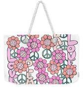 Flower Power 8 Weekender Tote Bag