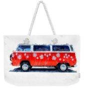 Flower Power Van Weekender Tote Bag