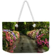 Flower Road Weekender Tote Bag