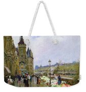 Flower Sellers By The Seine Weekender Tote Bag