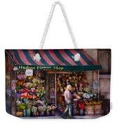 Flower Shop - Ny - Chelsea - Hudson Flower Shop  Weekender Tote Bag