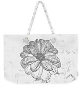 Flower Sketch Weekender Tote Bag