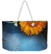 Flower - Sunflower - Little Blue Sunshine  Weekender Tote Bag