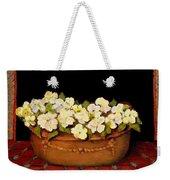 Flower Tub Rose Bay Weekender Tote Bag