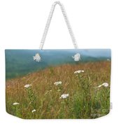 Flower View Of Mountains Weekender Tote Bag