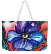 Flower With Eye. Plant From Space Weekender Tote Bag