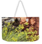 Flower Wood And Rock Weekender Tote Bag