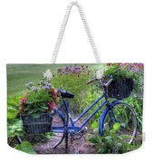 Flowered Bicycle Weekender Tote Bag