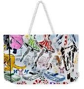 Flowered Mural Weekender Tote Bag