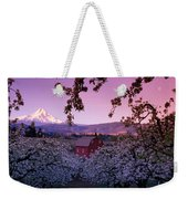 Flowering Apple Trees, Distant Barn Weekender Tote Bag