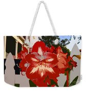 Flowering Backyard Work Number 33 Weekender Tote Bag