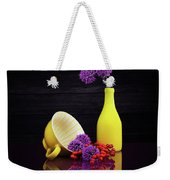 Flowering Onion With Yellow Weekender Tote Bag