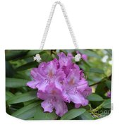 Flowering Pink Rhododendron Blossoms On A Bush Weekender Tote Bag