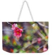 Flowering Quince In Spring Weekender Tote Bag