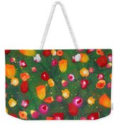 Flowers Afloat Weekender Tote Bag