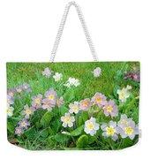 Flowers Along The Edge 1006 Weekender Tote Bag