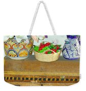 Flowers And Antique Chest Weekender Tote Bag