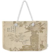 Flowers And Burning Censer, Anonymous Weekender Tote Bag