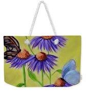 Flowers And Butterflies Weekender Tote Bag