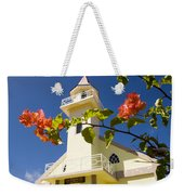 Flowers And Church On Takapoto Atoll Weekender Tote Bag