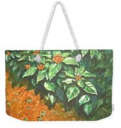 Flowers And Earth Weekender Tote Bag