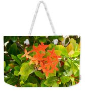 Flowers And Foliage Weekender Tote Bag