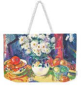 Flowers And Fruit In A Green Bowl Weekender Tote Bag