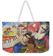 Flowers And Music Weekender Tote Bag