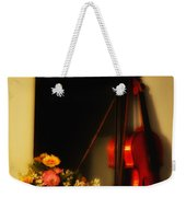 Flowers And Violin Weekender Tote Bag