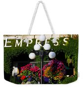 Flowers At The Empress Weekender Tote Bag
