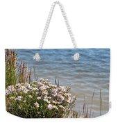 Flowers At The Lake Weekender Tote Bag