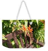 Flowers' Bench Weekender Tote Bag