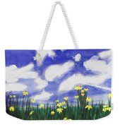 Flowers Bright Field Weekender Tote Bag