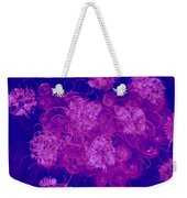 Flowers, Buttons And Ribbons -shades Of  Blue To Fuchsia Weekender Tote Bag