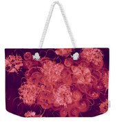 Flowers, Buttons And Ribbons -shades Of Burbundy Rose Weekender Tote Bag