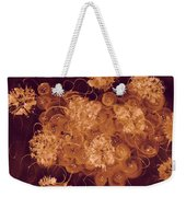 Flowers, Buttons And Ribbons -shades Of Burnt Umber Weekender Tote Bag