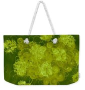 Flowers, Buttons And Ribbons -shades Of Chartreuse Weekender Tote Bag