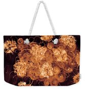 Flowers, Buttons And Ribbons -shades Of  Chocolate Mocha Weekender Tote Bag