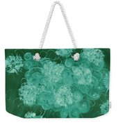 Flowers, Buttons And Ribbons -shades Of Green Weekender Tote Bag