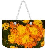 Flowers, Buttons And Ribbons -shades Of Orange/yellow  Weekender Tote Bag