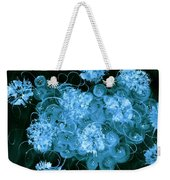 Flowers, Buttons And Ribbons -shades Of  Turquoise Weekender Tote Bag