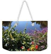 Flowers By The Pond Weekender Tote Bag